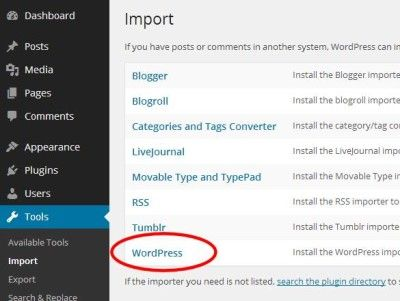 6 Upgrading WordPress - Importing Posts and Pages