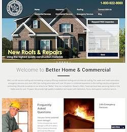 Web Design Allen, Tx - Construction Firm Homepage