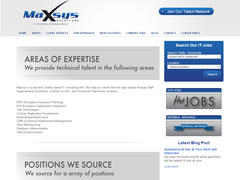 Dallas Webdesign Maxsy's Solutions About Page